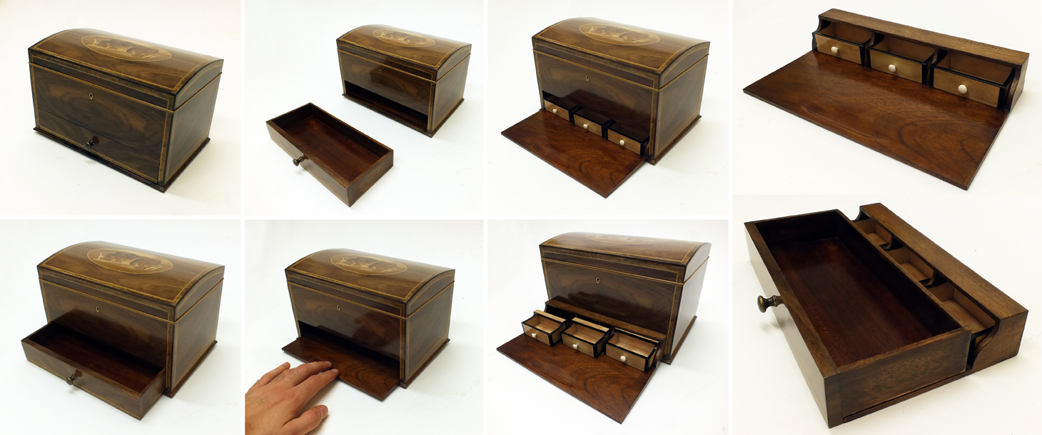 Making of a little walnut chest with secret compartments Secret drawer
